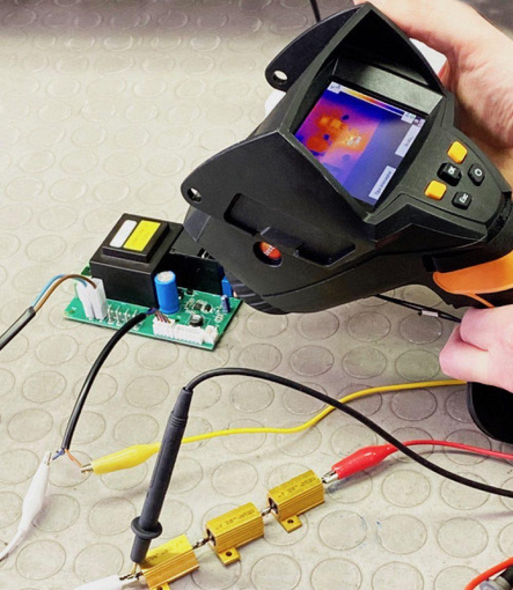 test temperatura schede elettriche e componenti